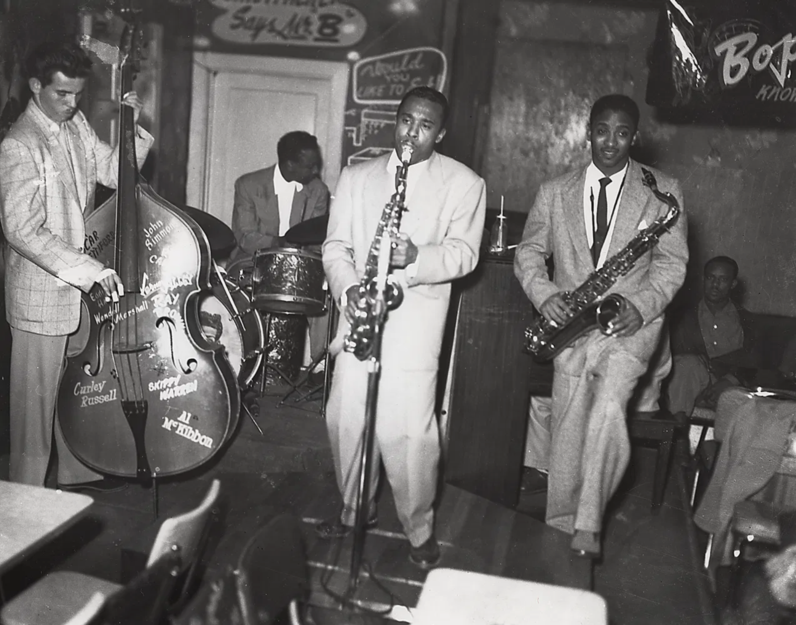 A late night jam session at Bop City, mid 1950s. Steve Jackson Jr.