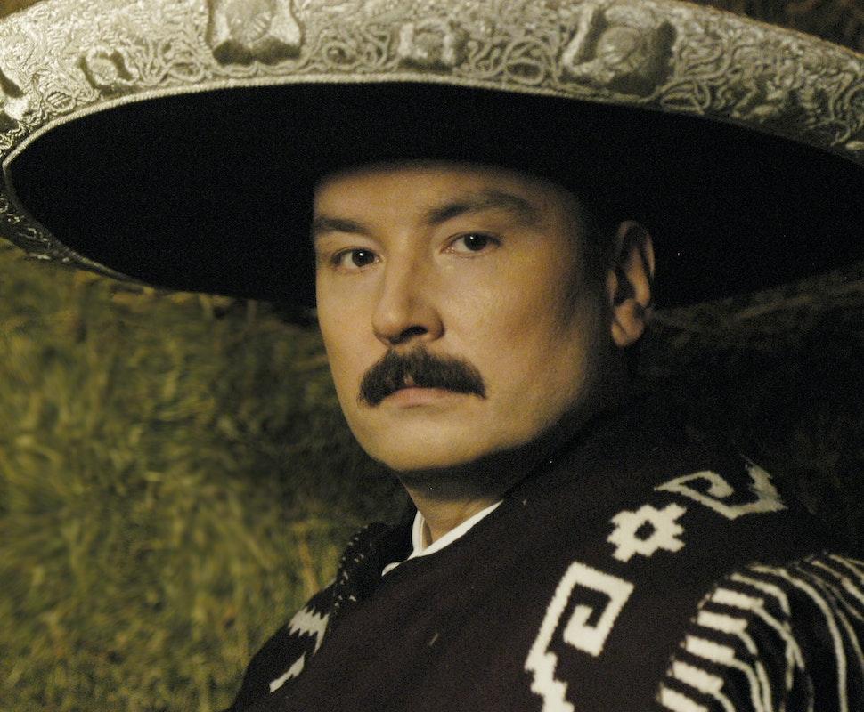 Don Gaspar Vargas wearing Traditional Mariachi attire