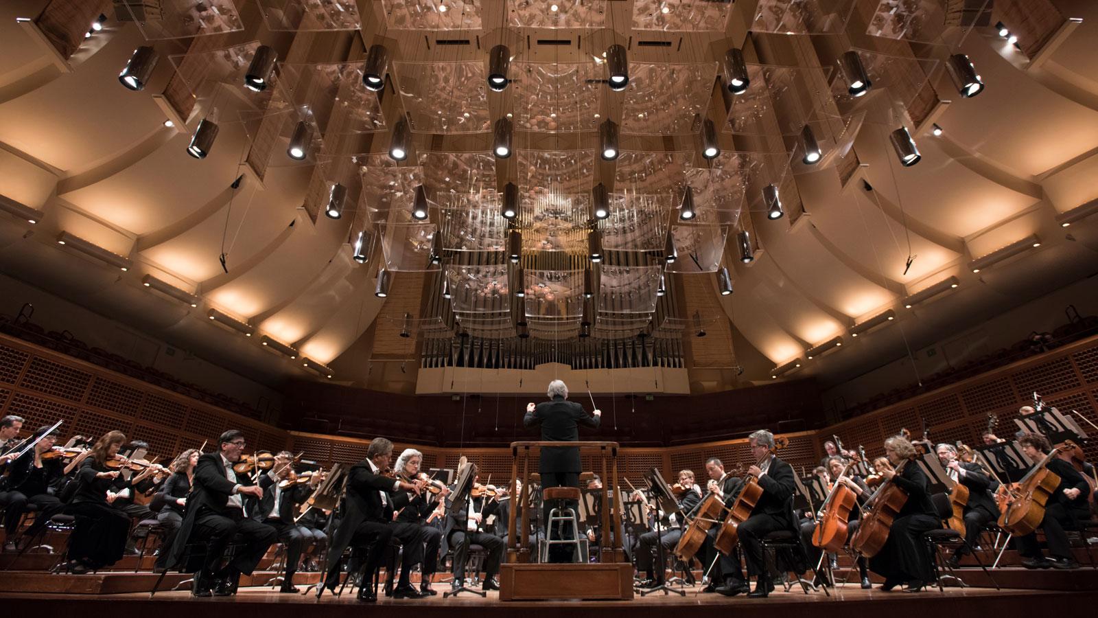 San Francisco Symphony orchestra at Davies Symphony Hall