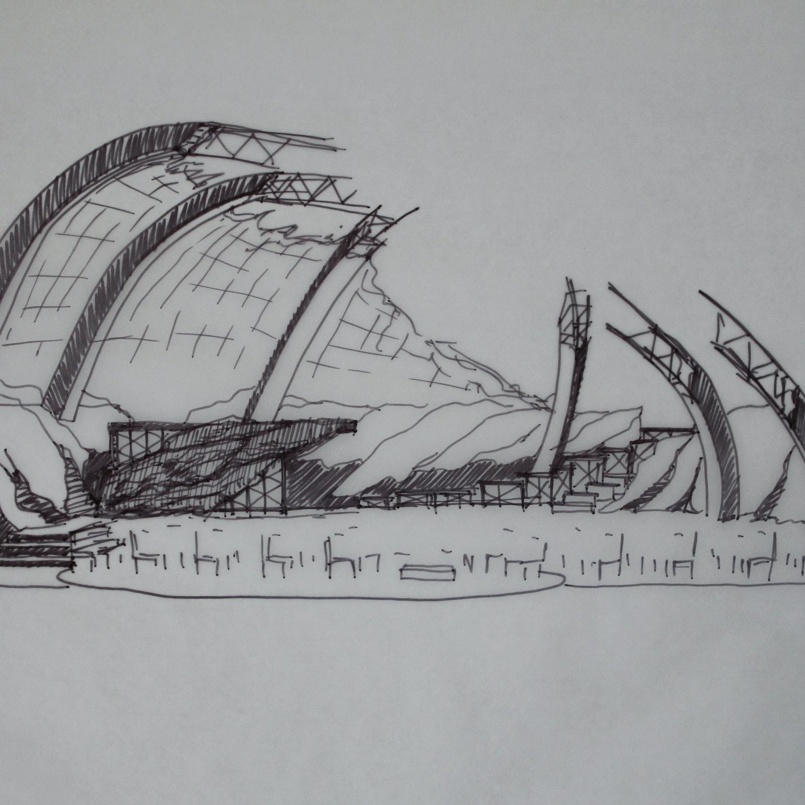Boris Godunov scenic sketch