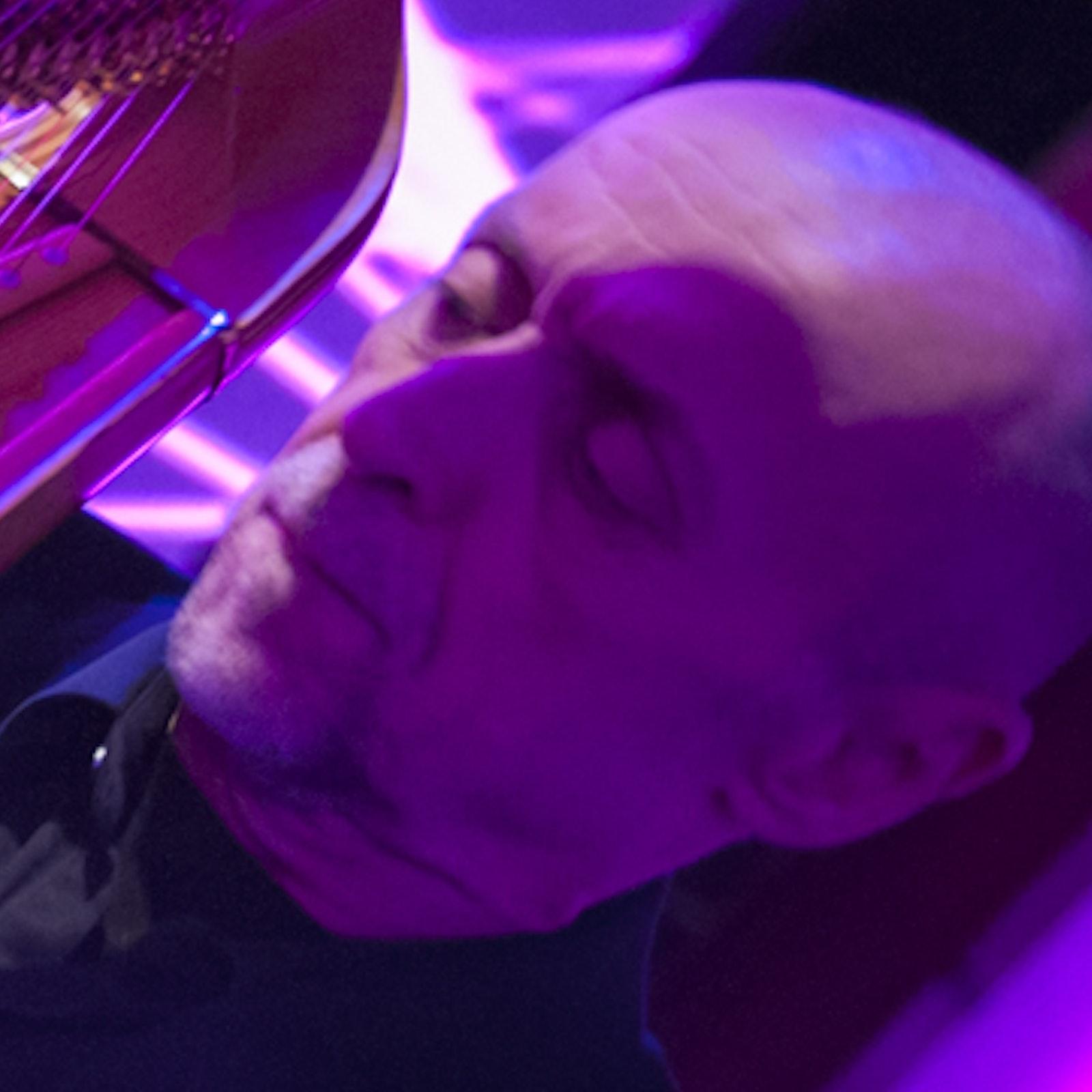 Harpist Doug Rioth at SoundBox